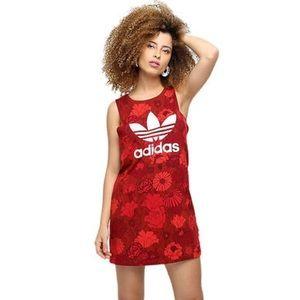 Adidas Red Tank Dress